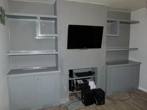 Upminster Dark Grey Fitted Designer Alcove Units