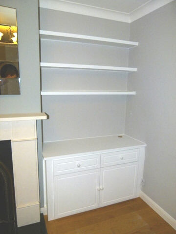 Upminster Fitted Alcove Media Cabinets